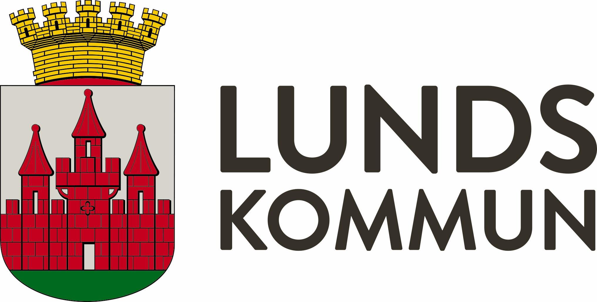 Lunds kommun logo horisontellt POS CMYK